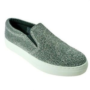 BRASH Womens Casual Slip On Loafer Size 9.5 Silver
